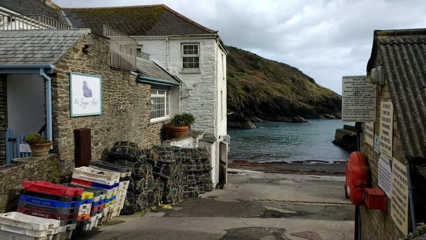 The Lugger Hotel in Portloe, our base for the short stay.