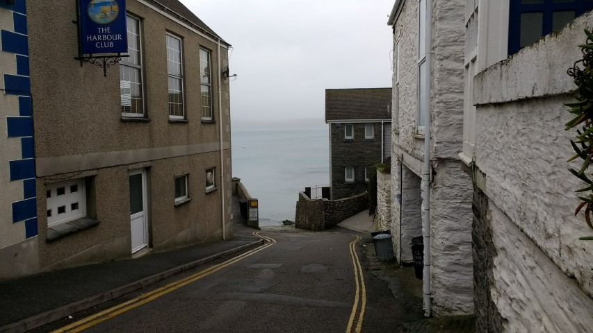 Port Scatho harbour... esentially a road down to the sea.